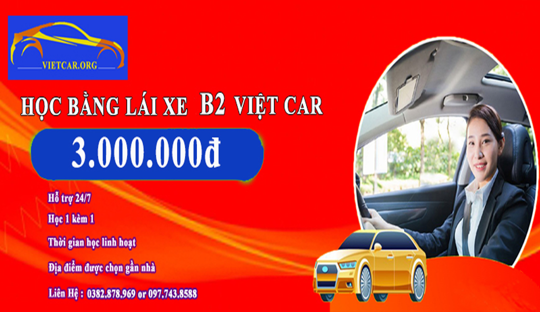 Hoc bang lai xe b2 ha noi do 100%